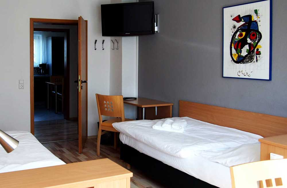 Zweibettzimmer der Monteurwohnungen